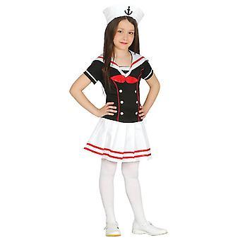 Girls Little Sailor Fancy Dress Costume