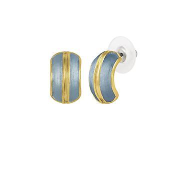 Eternal Collection Elite Blue Enamel Gold Tone Stud Pierced Earrings