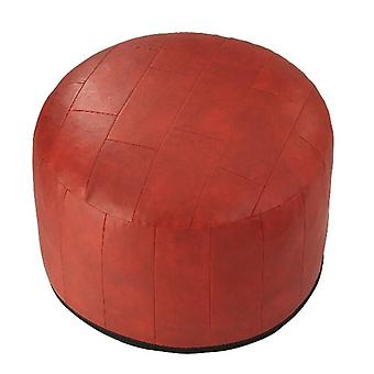 Seat cushion seat stool stool Ottoman faux leather patchwork Red