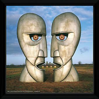 Pink Floyd Metal hoofden Framed Album Cover Print 12x12in