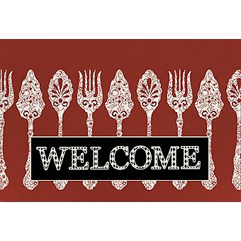 Carolines Treasures  SB3090PLMT Serving Spoons Welcome Fabric Placemat