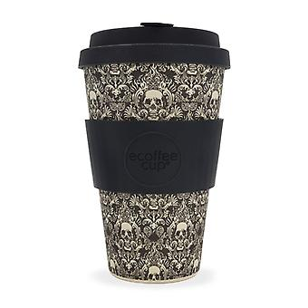 Ecoffee Eco-Friendly 14oz 400ml Reusable Natural Bamboo Fibre Tea & Coffee Cups With Silicone Lid Top For Travel & Home - Various Colours