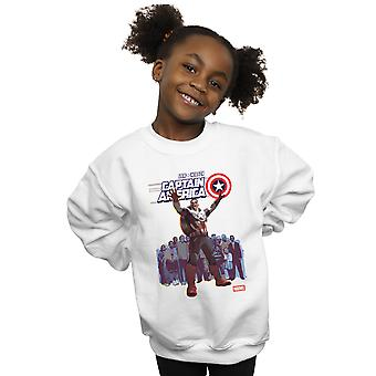 Marvel Girls Captain America Sam Wilson Cover Sweatshirt