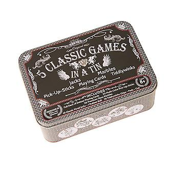 5 Classic Games In A Tin