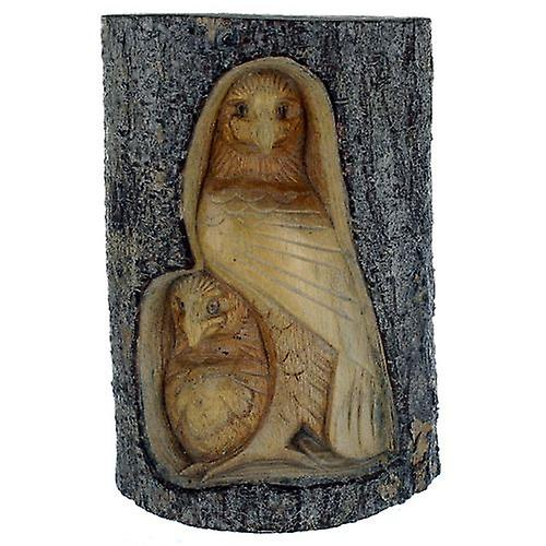 Eagles Carved Wood Tree Trunk Large