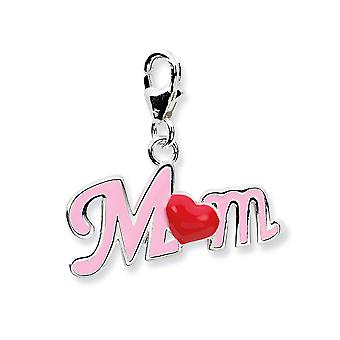925 Sterling Silver Fancy Lobster Closure 3 d Enameled Momw Lobster Clasp Charm Pendant Necklace Measures 22x22mm Jewelr