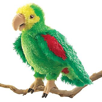 Hand Puppet - Folkmanis - Parrot Amazon New Animals Soft Doll Plush Toys 2592