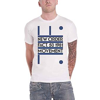 New Order T Shirt Movement Fact 50 1981 Band Logo new Official Mens White
