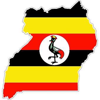 Sticker Sticker Adhesif Vinyl Car Flag Uganda Card
