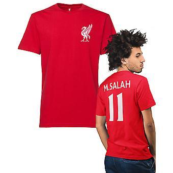 Camiseta roja al estilo Liverpool con Salah 11 en la espalda