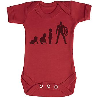 Baby Evolution To A Captain Baby - Baby Bodysuit