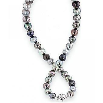 Luna-Pearls Pearl Necklace Tahiti Beads 8-11 mm 925 Silver Rhodiumplated 2035954
