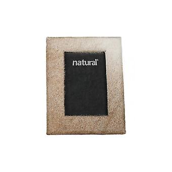 """7"""" x 9"""" Natural  Cowhide   4"""" x 6"""" Picture Frame"""