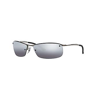 Ray-Ban Top Bar RB3183 004/82 / Lunettes de soleil Grey Mirror Silver