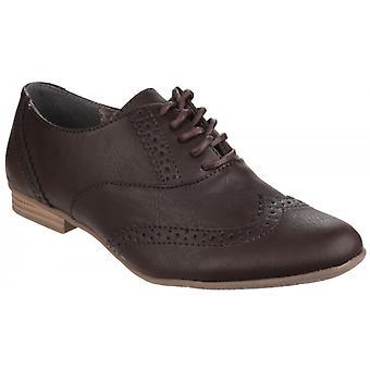 Divaz Levato Ladies Oxford Brogue Shoes Brown