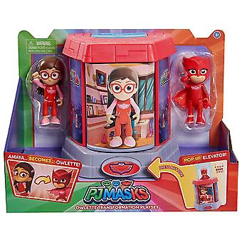 PJ Masks Transforming Figures Playset Owlette Toy