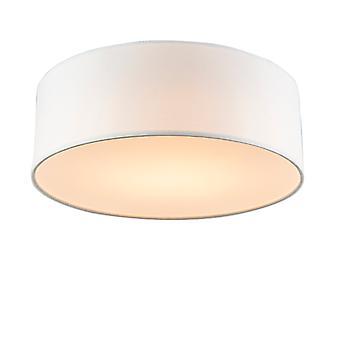 Lâmpada qaZQA teto branco 30 cm incl. LED - LED tambor