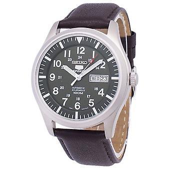 Seiko 5 Sport automatische Verhältnis dunkelbraun Leder Snzg09k1-ls11 Herren's Uhr