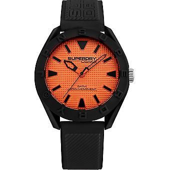 Superdry SYG243BO - Osaka wristband Silicone black case black man Silicone watch