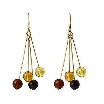 Boucles d'oreilles Gemshine Amber gradient plaqué or de haute qualité - Fabriqué en Allemagne