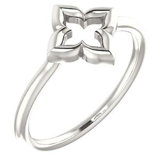 925 Sterling Silver Polished Clover Ring Size 6.5 Jewelry Gifts for Women - 1.9 Grams