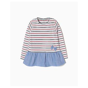 Zippy T-shirt Long Sleeves Stripes And Frill