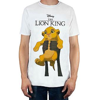 Disney The Lion King Simba Cub Circle Of Life Men's White T-Shirt
