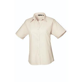 Premier Short Sleeve Poplin blouse pr302 lichte kleuren