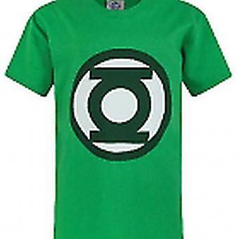 DC Comics Boys T-shirt  Lantern Emblem Logo Green Top For Kids