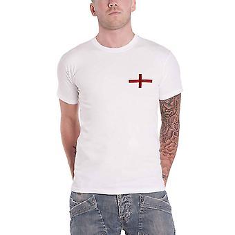 Official Mens England Football T Shirt Property of England Euro 2020 New White