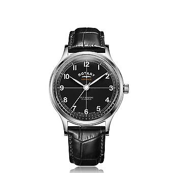 Rotary GS05125-04 LIMITED EDITION Heritage Black Dial Polshorloge