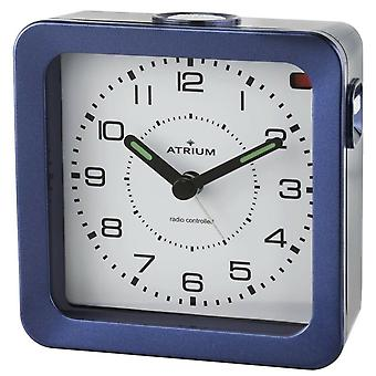 ATRIUM Alarm Clock Analog Quartz Alarm Clock A660-5 Light Snooze Dark Blue
