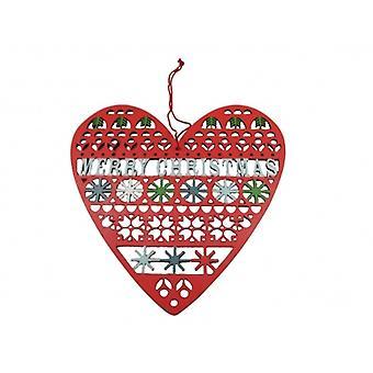 Merry Christmas Heart Gisela Graham  Christmas Decoration
