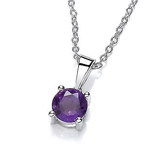David Deyong Sterling Silver Amethyst Necklace February Birthstone