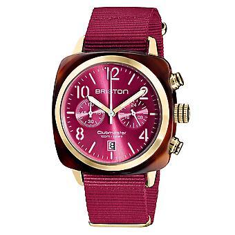 Briston 19140.PYA.T.28.NBER Clubmaster Classic Berry Pink Wristwatch