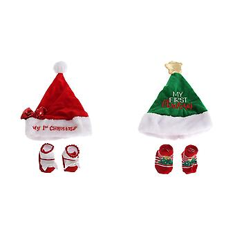 Nursery Time Baby Boys/Girls Christmas Hat & Socks Giftset
