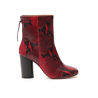 Isabel Marant 19abo009619a027s70rd Women's Red Leather Ankle Boots