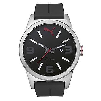 Cougar Time Cat Instinct wrist watch, analog, plastic band, black/silver