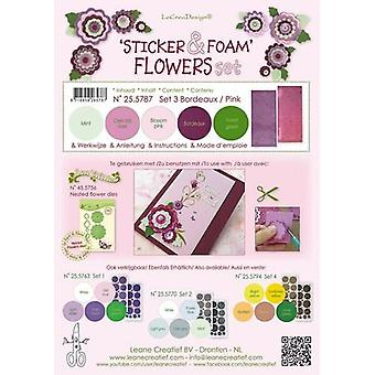 LeCrea - Sticker & Foam Flowers Set 3 25.5787 (01-19)