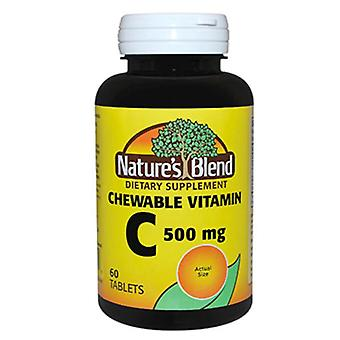 Nature's blend chewable vitamin c, 500 mg, tablets, 60 ea