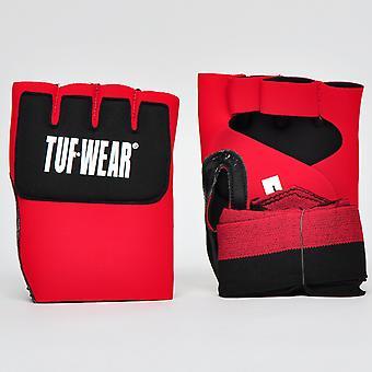 Tuf Wear Padded Inner Glove Hand Wrap Black / Red