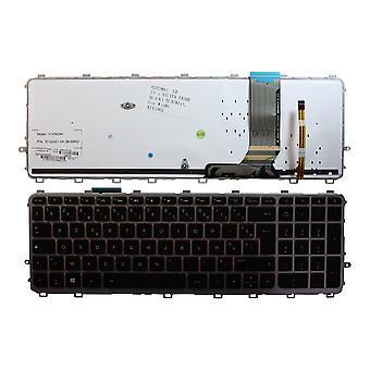 HP 羨望 15 J106SA シルバー フレーム バックライト黒 Windows 8 フランスのレイアウトの交換ノート パソコンのキーボード