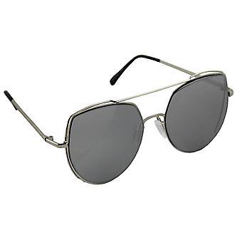 Sunglasses Ladies Cat Eye - Silver Reflective/Zwart1997_3