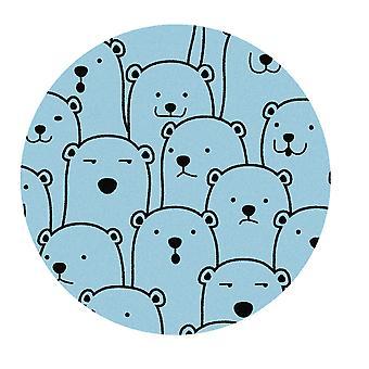 Kids Rug - Polar Bear - Washable - Circle 75 cm