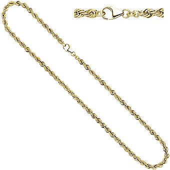 Women's cord necklace 333 yellow gold 4.9 mm 45 cm gold chain necklace gold chain carabiner