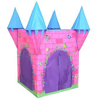 Charles Bentley Kid's Deluxe Pink Princess Castle Play Tent Indoor Outdoor Gebruik