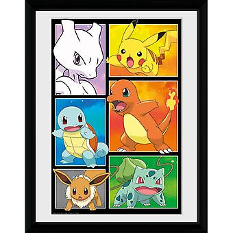 Pokemon Comic Panels Framed Plate 30 à 40cm
