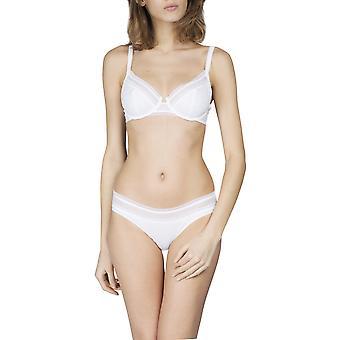 Maison Lejaby 17433-03 Frauen Cottone-Moi weiße Baumwolle nicht gepolstert Bügeln Full Cup Bra