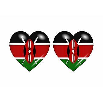 2x ملصقا ملصقا علم القلب EAK كينيا