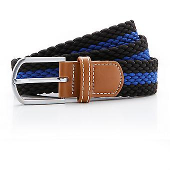 Asquith & Fox Mens Two Colour Stripe Braid Stretch Belt